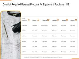 Detail Of Required Request Proposal For Equipment Purchase Feature Ppt Powerpoint Presentation Outline