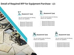 Detail Of Required RFP For Equipment Purchase Planning Ppt Powerpoint Presentation Ideas Graphics
