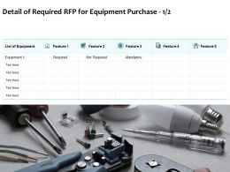 Detail Of Required RFP For Equipment Purchase Ppt Powerpoint Presentation Summary Grid