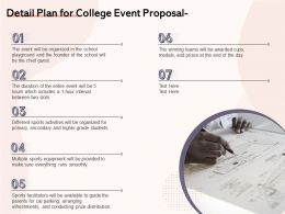 Detail Plan For College Event Proposal Ppt Powerpoint Presentation Show Inspiration