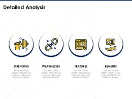 Detailed Analysis Features Benefits Strength Ppt Powerpoint Presentation Examples