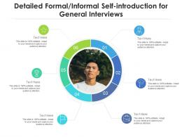 Detailed Formal Informal Self Introduction For General Interviews Infographic Template