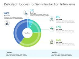 Detailed Hobbies For Self Introduction Interviews Infographic Template