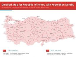 Detailed Map For Republic Of Turkey With Population Density Powerpoint Presentation PPT Template
