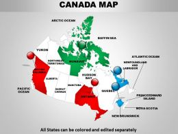 Detailed Map Of Canada 1114