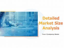 Detailed Market Size Analysis Powerpoint Presentation Slides