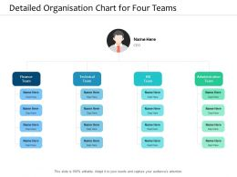 Detailed Organisation Chart For Four Teams