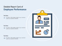 Detailed Report Card Of Employee Performance