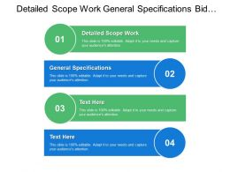 Detailed Scope Work General Specifications Bid Drawings Reference Drawings