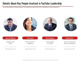 Details About Key People Involved In Youtube Leadership Ppt Infographics Slide