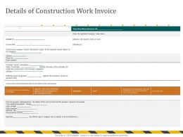 Details Of Construction Work Invoice Payment Here Ppt Powerpoint Presentation Icon Show