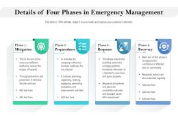 Details Of Four Phases In Emergency Management