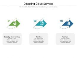 Detecting Cloud Services Ppt Powerpoint Presentation Infographics Background Designs Cpb