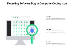 Detecting Software Bug In Computer Coding Icon