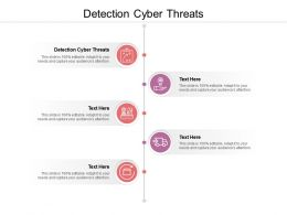 Detection Cyber Threats Ppt Powerpoint Presentation Inspiration Objects Cpb