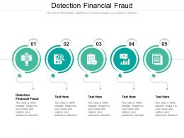 Detection Financial Fraud Ppt Powerpoint Presentation Model Show Cpb