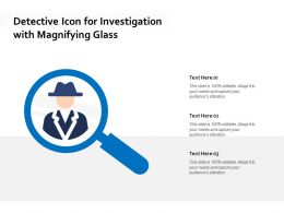 Detective Icon For Investigation With Magnifying Glass