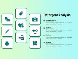 Detergent Analysis Ppt Powerpoint Presentation Themes
