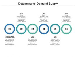 Determinants Demand Supply Ppt Powerpoint Presentation Ideas Example Topics Cpb