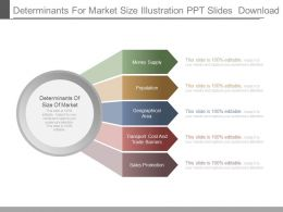 Determinants For Market Size Illustration Ppt Slides Download