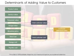 Determinants Of Adding Value To Customers