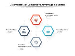 Determinants Of Competitive Advantage In Business