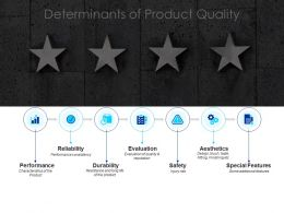 Determinants Of Product Quality Evaluation Ppt Powerpoint Presentation Portfolio Template