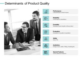 Determinants Of Product Quality Performance Durability Ppt Powerpoint Presentation Layout