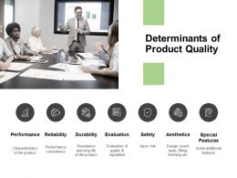 Determinants Of Product Quality Performance Powerpoint Presentation
