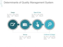 Determinants Of Quality Management System Powerpoint Slides