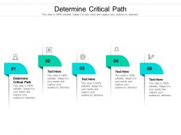 Determine Critical Path Ppt Powerpoint Presentation Styles Graphic Tips Cpb