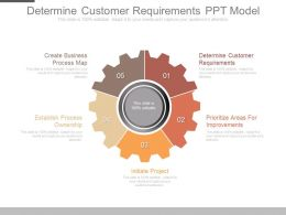 Determine Customer Requirements Ppt Model
