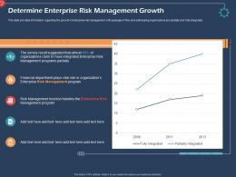 Determine Enterprise Risk Management Growth Ppt File Brochure