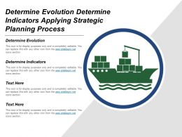 Determine Evolution Determine Indicators Applying Strategic Planning Process