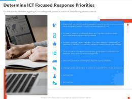 Determine ICT Focused Response Priorities Ppt Guidelines