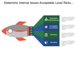 Determine Internal Issues Acceptable Level Ricks Selection Strategy