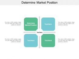 Determine Market Position Ppt Powerpoint Presentation Slides Graphic Images Cpb