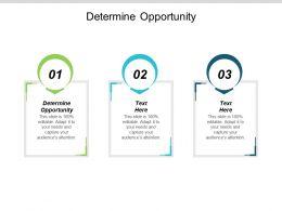 Determine Opportunity Ppt Powerpoint Presentation Portfolio Deck Cpb