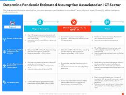 Determine Pandemic Estimated Assumption Associated On ICT Sector Ppt Graphics