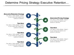 Determine Pricing Strategy Executive Retention Strategy Communicate With Community
