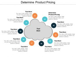 Determine Product Pricing Ppt Powerpoint Presentation Show Good Cpb