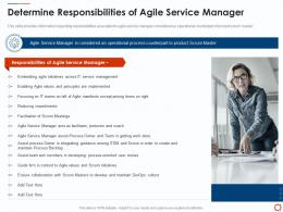 Determine Responsibilities Of Agile Service Management With ITIL Ppt Microsoft