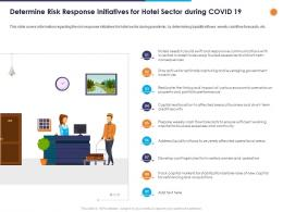 Determine Risk Response Initiatives For Hotel Sector During Covid 19 Ppt Powerpoint Presentation Outline