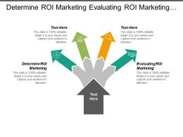 Determine Roi Marketing Evaluating Roi Marketing Return Marketing Investment Cpb