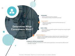 Determine What Consumers Want Ppt Powerpoint Presentation Styles Slide Portrait