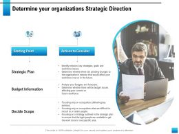 Determine Your Organizations Strategic Direction Outlined Ppt Powerpoint Presentation Backgrounds