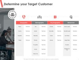 Determine Your Target Customer Sought Ppt Powerpoint Presentation Icon Professional