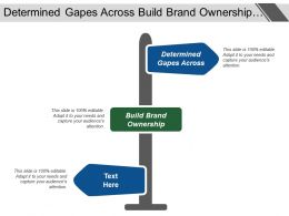 Determined Gapes Across Build Brand Ownership Strategic Direction