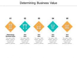 Determining Business Value Ppt Powerpoint Presentation Show Example File Cpb