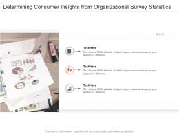 Determining Consumer Insights From Organizational Survey Statistics Infographic Template